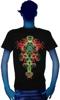 S/S Symbol Print T : Fire Hedron - Men T-Shirts - Space Tribe