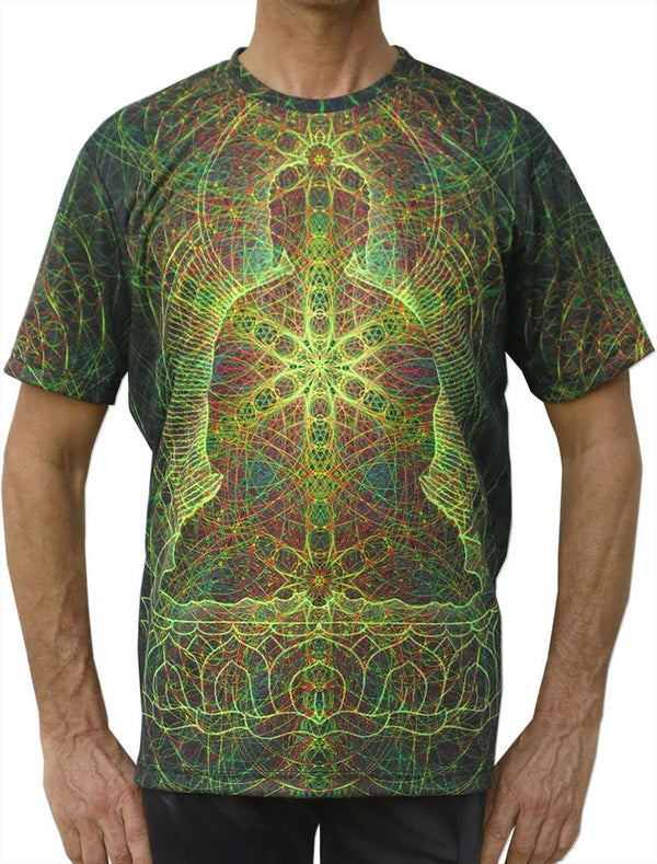 UV Sublime S/S T : Rainbow Buddha - Men T-Shirts - Space Tribe