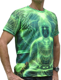 UV Sublime S/S T : Lime Buddha - Men T-Shirts - Space Tribe