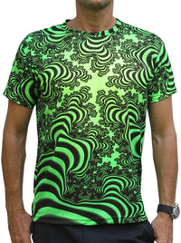 UV Sublime S/S T : Lime Valley Fractal - Men T-Shirts - Space Tribe