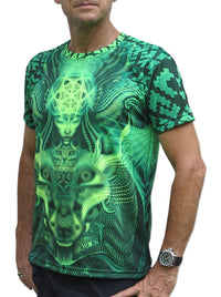 UV Sublime S/S T : Lime Foxy - Men T-Shirts - Space Tribe