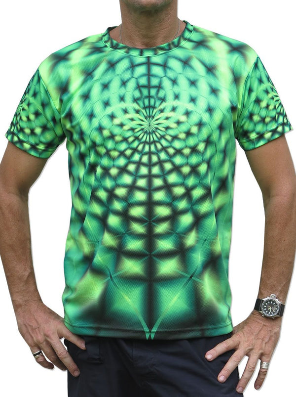 UV Sublime S/S T : Lime Web - Men T-Shirts - Space Tribe