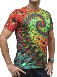 UV Sublime S/S T :  Whirlpool Fractal - Men T-Shirts - Space Tribe