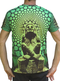 UV Sublime S/S T : Lime Xochipilli - Men T-Shirts - Space Tribe