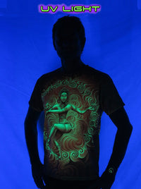 UV Sublime S/S T :  Nataraja Fire Dance UV - Men T-Shirts - Space Tribe