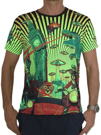 UV Sublime S/S T : Planet gone Mad - Men T-Shirts - Space Tribe