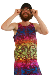 Singlet : Rainbow Fractal - Men Singlets - Space Tribe