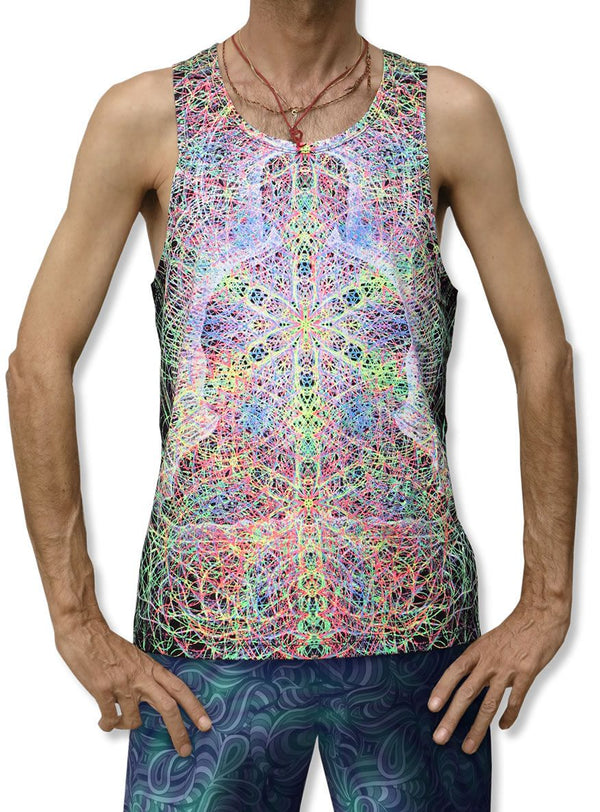 Singlet : Rainbow Buddha - Men Singlets - Space Tribe