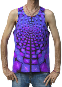 Singlet : Purple Web - Men Singlets - Space Tribe