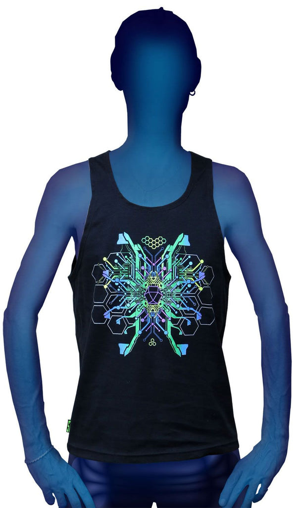 Singlet  : TechnoSapien - Men Singlets - Space Tribe