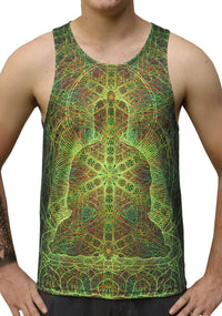 UV Sublime Singlet : Rainbow Buddha - Men Singlets - Space Tribe