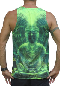 UV Sublime Singlet : Lime Buddha - Men Singlets - Space Tribe