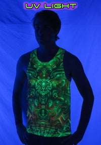 UV Sublime Singlet : Holographic Altar - Men Singlets - Space Tribe