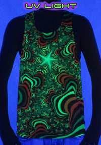 UV Sublime Singlet : Rainbow Valley Fractal - Men Singlets - Space Tribe