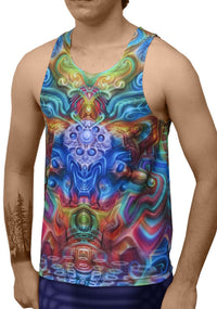 Sublime Singlet : Holographic Altar - Men Singlets - Space Tribe