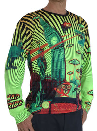 UV Sublime L/S T : Planet gone Mad - Men Long Sleeve T's - Space Tribe
