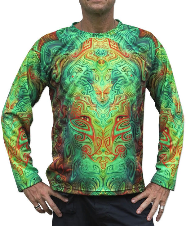 UV Sublime L/S T : Ancestral Ornament - Men Long Sleeve T's - Space Tribe