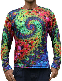 Sublime L/S T : Whirlpool Fractal - Men Long Sleeve T's - Space Tribe