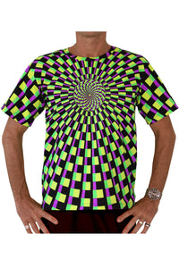 Classic S/S T : Lime Vertigo - Men T-Shirts - Space Tribe