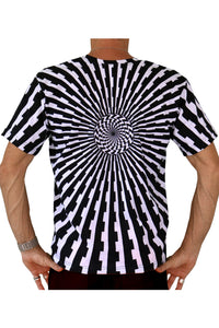 Classic S/S T : Black & White Vertigo - Men T-Shirts - Space Tribe