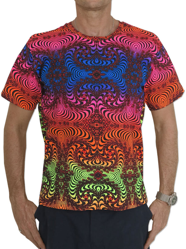 Classic S/S T : Rainbow Fractal - Men T-Shirts - Space Tribe
