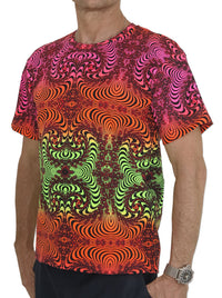 Classic S/S T : Fire Fractal - Men T-Shirts - Space Tribe
