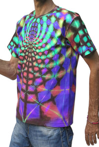 Classic S/S T : Rainbow Web - Men T-Shirts - Space Tribe