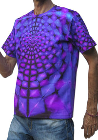 Classic S/S T : Purple Web - Men T-Shirts - Space Tribe