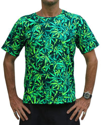 Classic S/S T : Sea of Green Weed - Men T-Shirts - Space Tribe