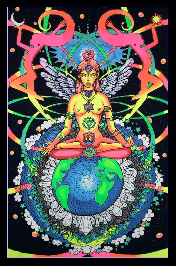 UV Wallhanging : Chakra Goddess - UV Wallhangings - Space Tribe