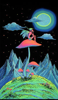 UV Wallhanging : Mushroom Fairy - UV Wallhangings - Space Tribe