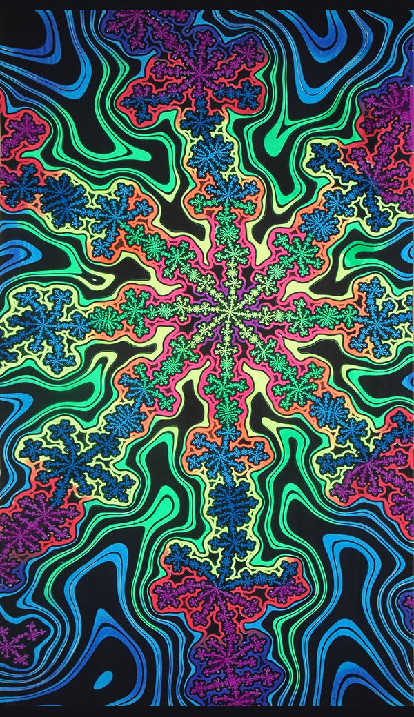 UV Wallhanging : Rainbow Flake Fractal - UV Wallhangings - Space Tribe