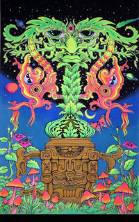 UV Wallhanging : Green Man - UV Wallhangings - Space Tribe