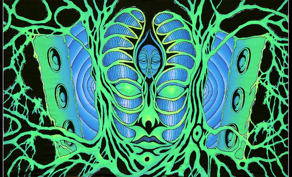 UV Wallhanging : Psylence - UV Wallhangings - Space Tribe