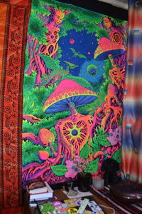 UV Wallhanging : Psy Shroom - UV Wallhangings - Space Tribe