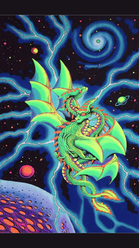 UV Wallhanging : Space Dragons - UV Wallhangings - Space Tribe