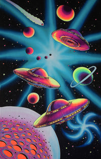 UV Wallhanging : Planet UFO - UV Wallhangings - Space Tribe