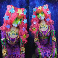 Slinky Dress  : Pink Dragonfly - Women Dresses - Space Tribe