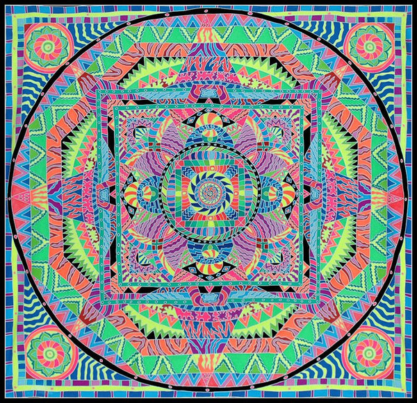 UV Banner : Kaleidoscope Mandala - UV Banners - Space Tribe
