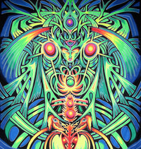 UV Banner : PsyAlaska Nymph - UV Banners - Space Tribe