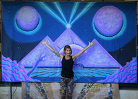 Giant UV Banner : Space Pyramid - UV Giant Banners - Space Tribe