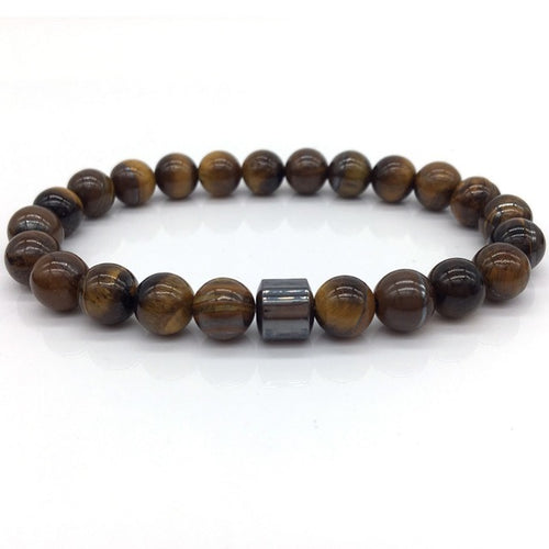 Bratara One Brown Stones