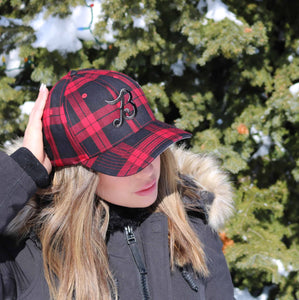 "Plaid ""B"" Flex Fit Hat"
