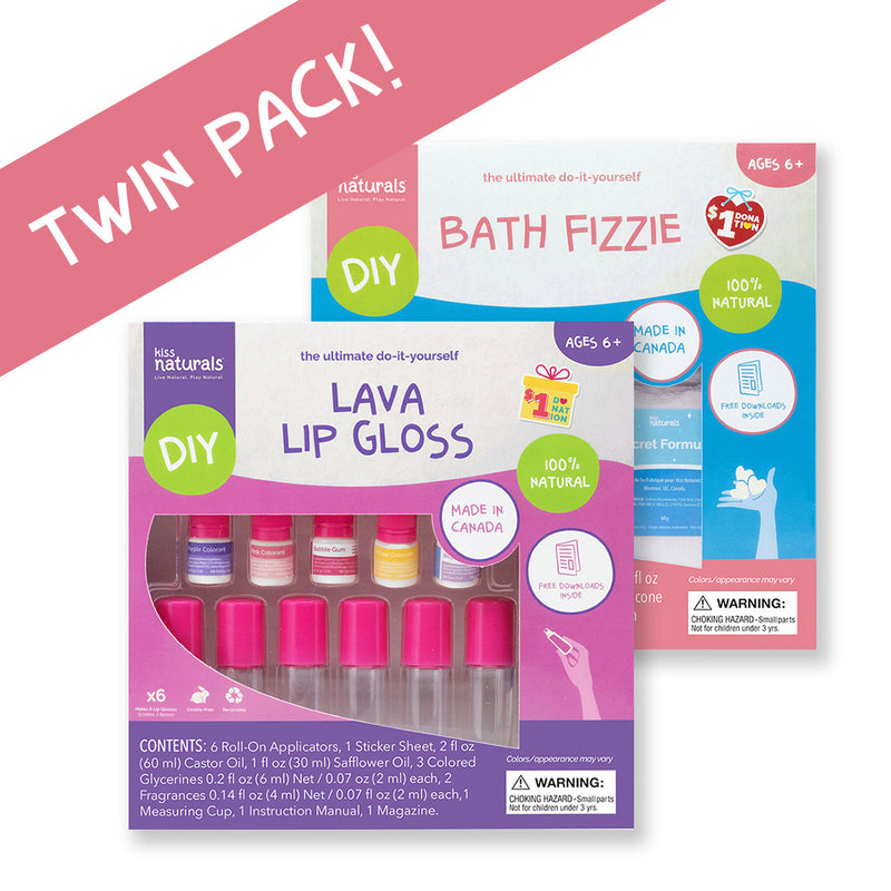 Twin Pack - Bath Fizzie & Lava Lip Gloss