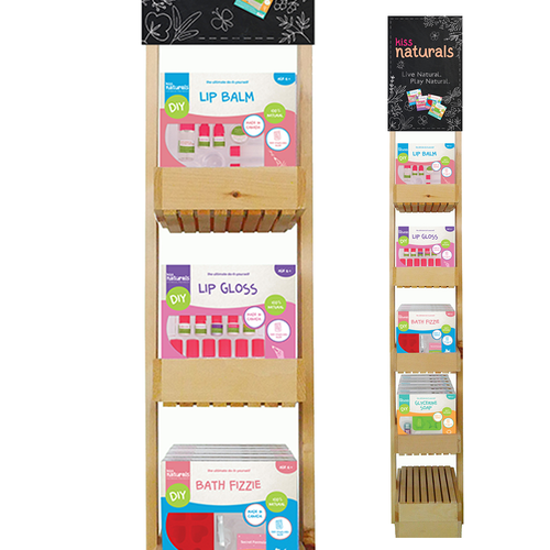 Kiss Naturals - 24 unit stand up wooden display (661895123511)