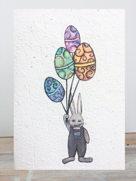 Plantable Easter Card - Easter Balloon