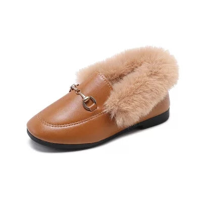 FUR LOAFERS-size chart included