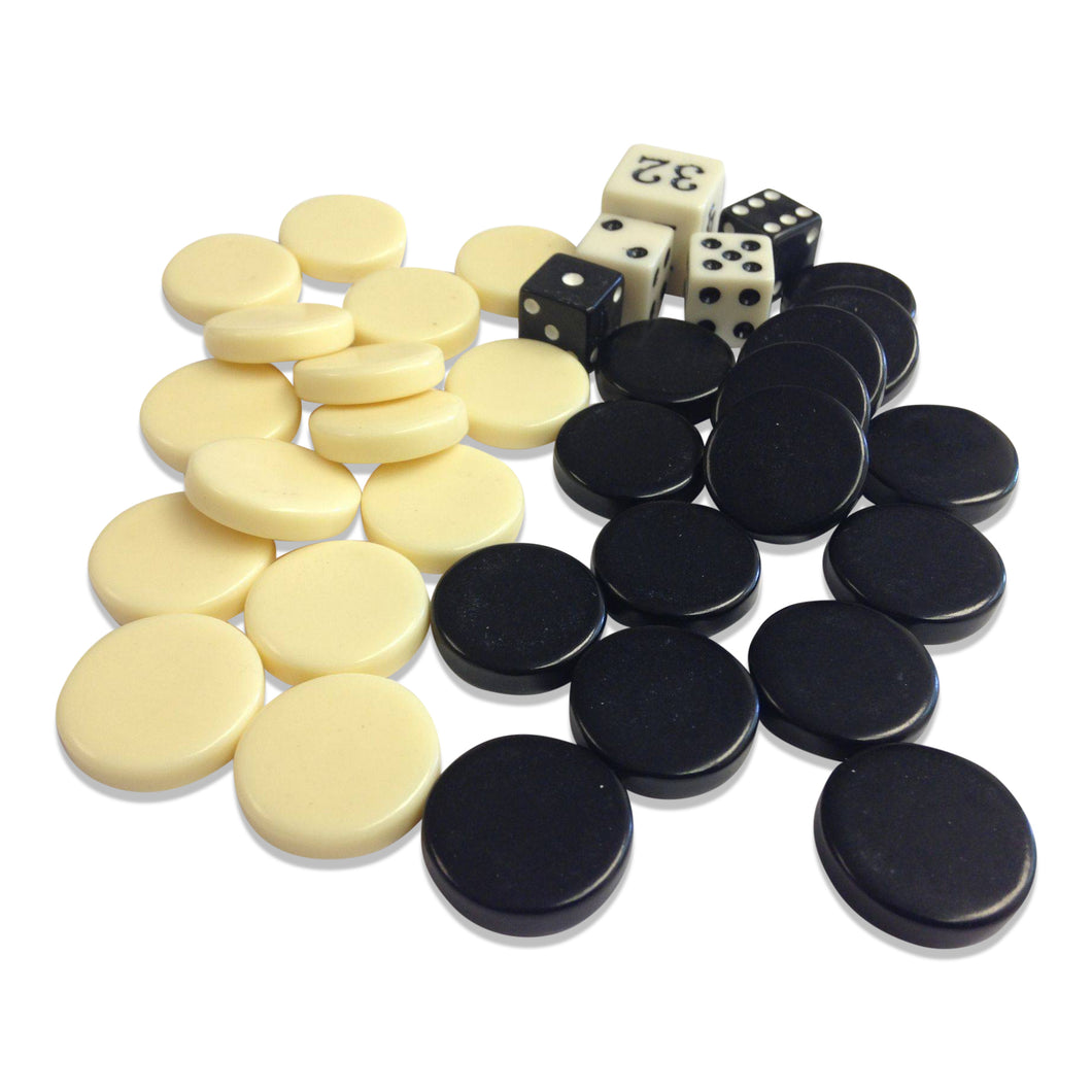 Sondergut Backgammon Roll-up Travel Game Replacement Stones