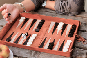 Sondergut Deluxe Roll-Up Travel Backgammon Game | Free Shipping