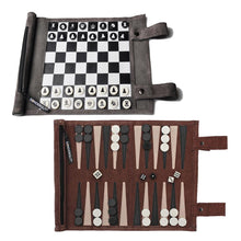 Sondergut Roll-Up Chess & Checkers Game